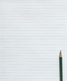 Notebook blank page with pencil. Stock Photo