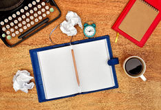 Notebook with blank page Royalty Free Stock Image