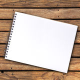 Notebook blank page Royalty Free Stock Image