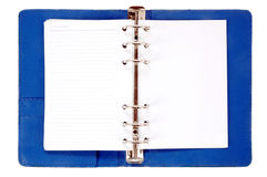 Notebook with blank paper Stock Images