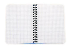 Notebook blue checked lying Stock Images