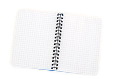 Notebook blue checked oblique Stock Image