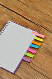 Notebook with bookmarks Royalty Free Stock Photo