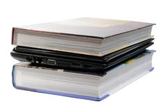 Notebook and books Royalty Free Stock Images