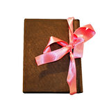 Notebook bow Royalty Free Stock Image
