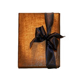 Notebook bow dark Royalty Free Stock Photos
