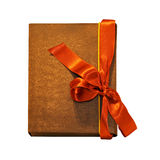 Notebook bow orange Stock Photo