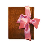 Notebook bow pink Stock Photo