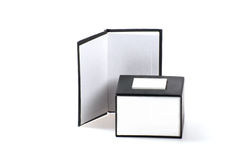 Notebook and box Stock Photo