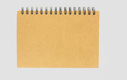 Notebook with brown Royalty Free Stock Photo