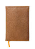 Notebook with brown leather cover Stock Photography