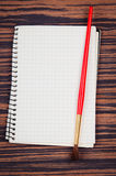 Notebook with brush Royalty Free Stock Photography