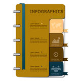 Notebook Business Infographics Design Stock Images