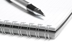 Notebook and business pen in composition Stock Photography