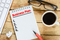 Notebook with with business plan Royalty Free Stock Photos