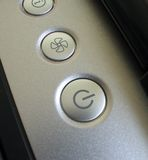 Notebook buttons. Notebook power button Stock Image