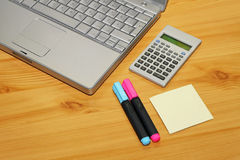 Notebook and calculator Royalty Free Stock Images