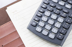 Notebook with calculator Royalty Free Stock Photography