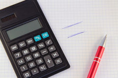 Notebook with calculator Royalty Free Stock Images