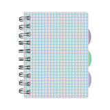 Notebook into a cell on the springs Royalty Free Stock Photo