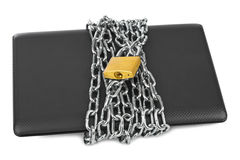 Notebook and chain Royalty Free Stock Photo
