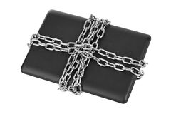 Notebook and chains Royalty Free Stock Photography