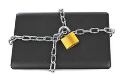 Notebook and chains Stock Photography