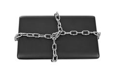 Notebook and chains Stock Image