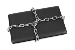Notebook and chains Royalty Free Stock Image