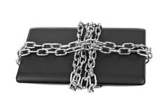 Notebook and chains Royalty Free Stock Images
