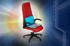 Notebook on the chair Royalty Free Stock Images