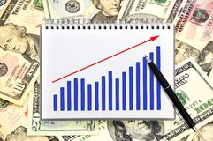 Notebook with chart Stock Images