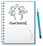 A notebook with a cheerleading design Royalty Free Stock Photography