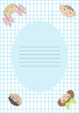 Notebook with children's faces Royalty Free Stock Image