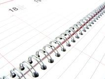 Notebook closeup Royalty Free Stock Photo
