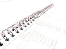Notebook closeup stock photo