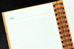Notebook, Closeup Royalty Free Stock Photos