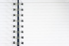 Notebook closeup. Ring bound empty notebook closeup Royalty Free Stock Images