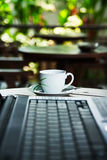 Notebook and coffee Royalty Free Stock Image