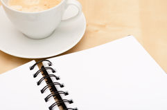 Notebook And Coffee Royalty Free Stock Photography