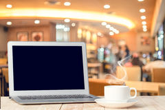 Notebook with a coffee cup. Royalty Free Stock Photos