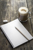 Notebook and coffee Royalty Free Stock Photo