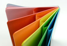 Notebook with colored sheets Stock Photos