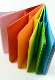 Notebook with colored sheets Stock Image