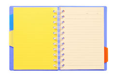 Notebook with colorful bookmark Royalty Free Stock Photos