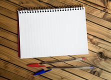 Notebook and colorful pen Royalty Free Stock Photo