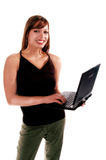 Notebook Computer Girl 2 Royalty Free Stock Image