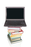 Notebook Computer On Books , Collage Stock Images