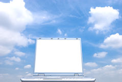 Notebook computer screen Royalty Free Stock Photography