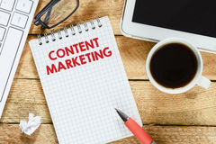Notebook with content marketing Royalty Free Stock Images